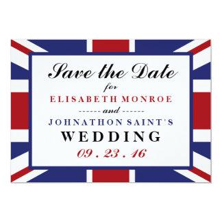Union Jack Flag British Wedding Save The Date Card