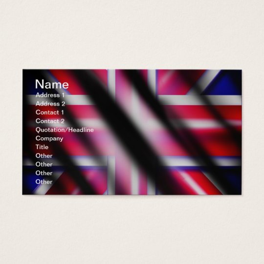 Union Jack Flag Business Card