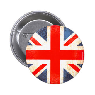 Union jack flag button badge in red white and blue