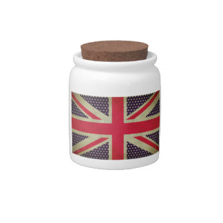 Union Jack Flag Candy/Cookie Jar Candy Dish