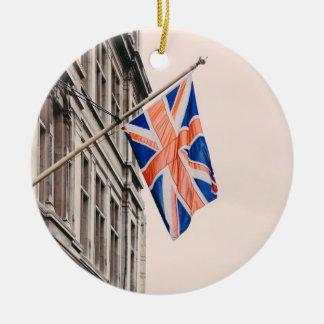 Union Jack Flag Ceramic Ornament
