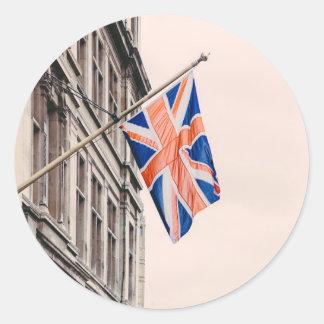Union Jack Flag Classic Round Sticker