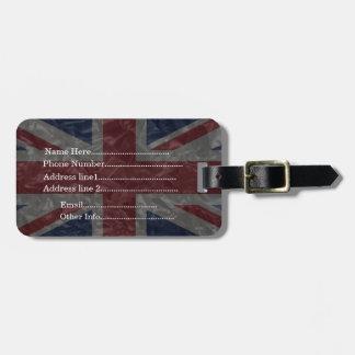 Union Jack Flag - Crinkled Bag Tag