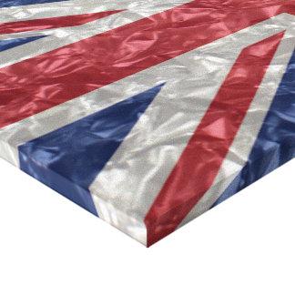 Union Jack Flag - Crinkled Canvas Print