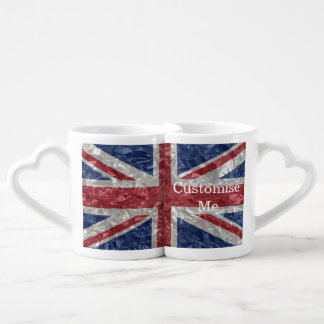 Union Jack Flag - Crinkled Coffee Mug Set