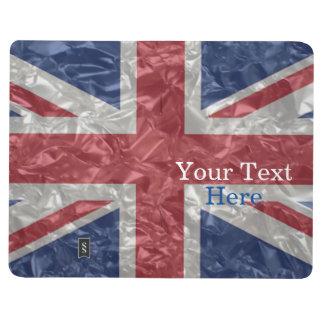 Union Jack Flag - Crinkled Journal