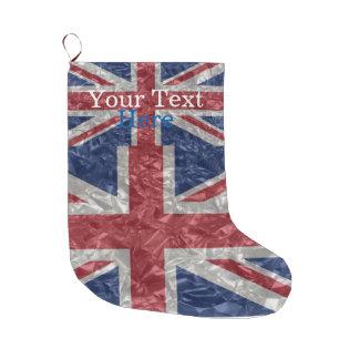 Union Jack Flag - Crinkled Large Christmas Stocking