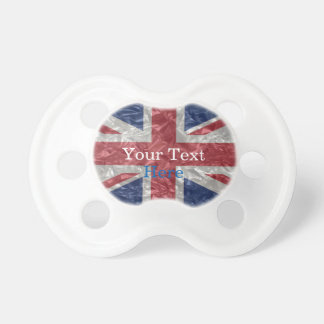 Union Jack Flag - Crinkled Pacifier