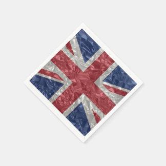 Union Jack Flag - Crinkled Standard Cocktail Napkin