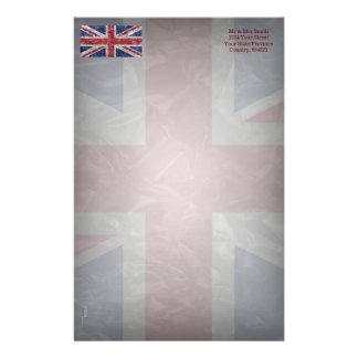 Union Jack Flag - Crinkled Stationery