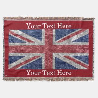 Union Jack Flag - Crinkled Throw