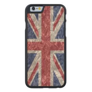 Union Jack Flag - Crinkled Carved® Maple iPhone 6 Case