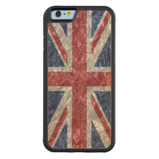 Union Jack Flag - Crinkled Carved® Maple iPhone 6 Bumper