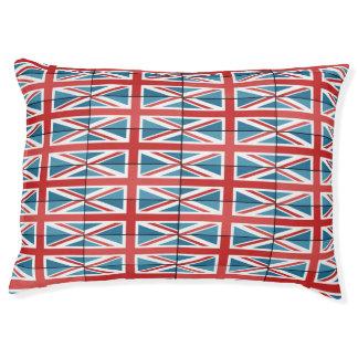Union Jack Flag Custom Indoor Dog Bed - Large Large Dog Bed