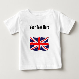 Union Jack Flag - Customizable With Your Text! Baby T-Shirt