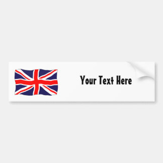 Union Jack Flag - Customizable With Your Text! Car Bumper Sticker