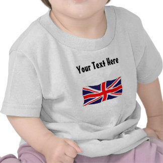 Union Jack Flag - Customizable With Your Text! Tshirts
