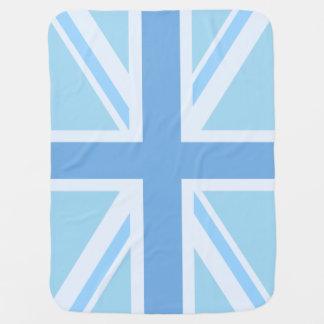 Union Jack/Flag Design Blues Receiving Blanket