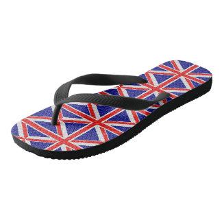 Union Jack Flag Design Flip Flops