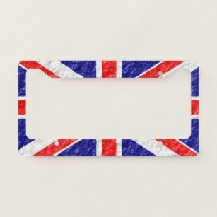 Union Jack License Plate Frames Amp Covers Zazzle