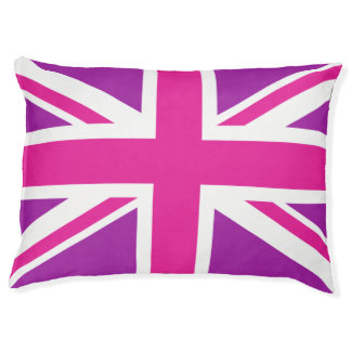 British dog beds zazzle for Pink union jack bedding