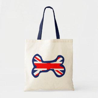 Union Jack Flag Dog Bone Art Budget Tote Bag