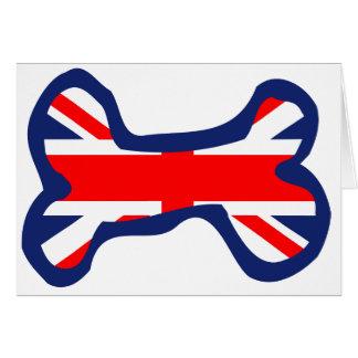 Union Jack Flag Dog Bone Art Card