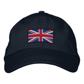 Union Jack Flag Embroidered Baseball Cap