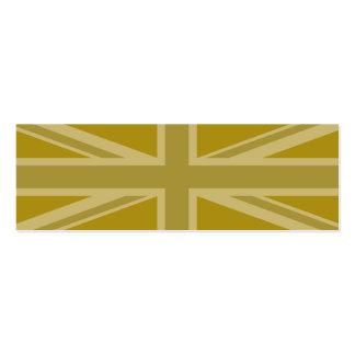 Union Jack/Flag Golds Business Card