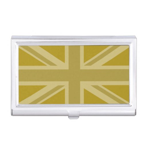 Union jack flag golds business card holder zazzle for Union made business cards
