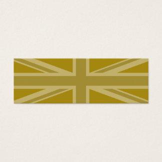 Union Jack/Flag Golds Mini Business Card