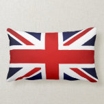 union Jack Flag - Great Britain British Union Jack Throw Pillow