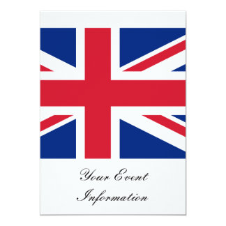 Union Jack Flag Great Britain Party Event Personalized Invitation