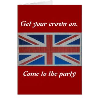 Union Jack Flag Greeting Card