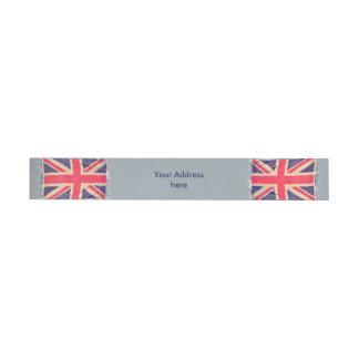 UNION JACK FLAG grunge + your text Wraparound Address Label