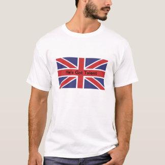 Union Jack Flag He's Got Talent Tee Shirt