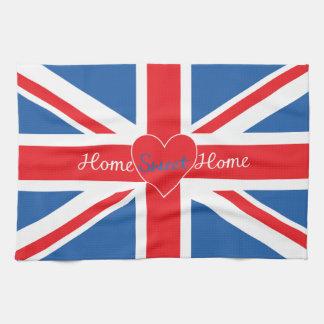 Union Jack Flag, Home Sweet Home & Heart Towel