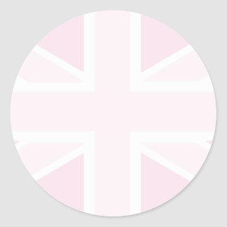 Union Jack Flag in Baby Pink Stickers