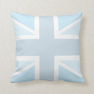 Union Jack Flag in Blue American Mojo Pillow
