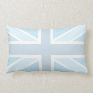 Union Jack Flag in Blue Polyester Pillow