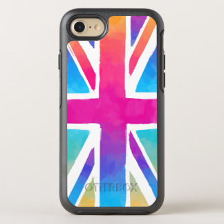 Union Jack Flag in Bright Watercolors OtterBox Symmetry iPhone 8/7 Case