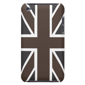 Union Jack Flag in Brown Black IPod Touch Case