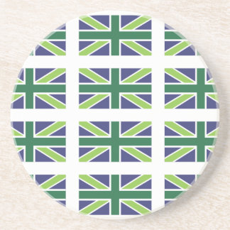 Union Jack Flag in Green Coaster