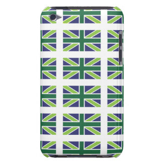 Union Jack Flag in Green iPod Touch Barely There iPod Touch Cover