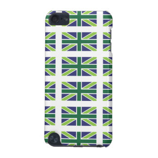 Union Jack Flag in Green iPod Touch Case