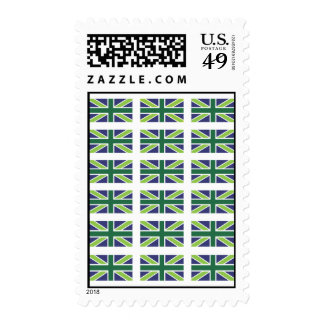 Union Jack Flag in Green Postage/Stamp Postage