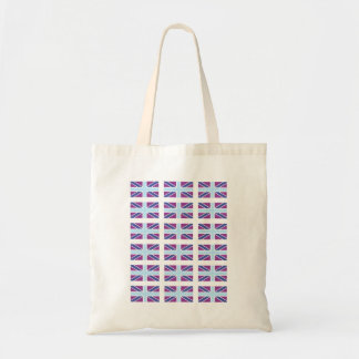 Union Jack Flag in Purple and Blue Bag