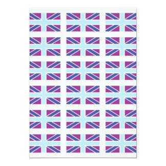 Union Jack Flag in Purple and Blue Invitation