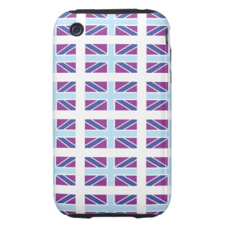 Union Jack Flag in Purple iPhone 3 Case-Mate Tough iPhone 3 Tough Cases