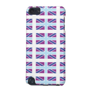 Union Jack Flag in Purple iPod Touch Case